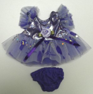 "Purple Passion Dress Clothing Fits 8""-10"" Most Webkinz, Shining Star and 8""-10"" Make Your Own Stuffed Animals and Build-a-bear"
