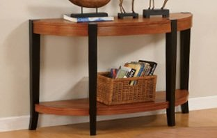 Image of 1-pc Beautiful Console Table in Oak Finish PDS F60124 (B004RQB2XW)