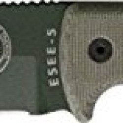 Esee Model 5 Survival Fixed Blade Knife, 5.25In, Od Green Powder Coat Stainless, Od Green Es-5Pod