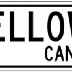 Yellowknife, Canada - Canada Flag Aluminum City Sign - 4 X 18 Inches