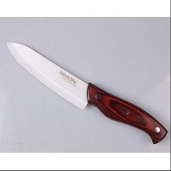 Gongxi 6 Inch Chic Wooden Handle Ceramic Knife