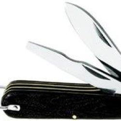 Klein 1550-9 3-Blade Pocket Knife-Carbon Steel Spear Point, Insulation-Slitting, And Screwdriver-Tip Blades