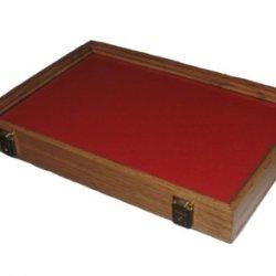 Oak Display Case 12 X 18 X 2 1/4