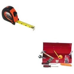 Kitgns58652Gnsctb9 - Value Kit - Great Neck Sheffield Extramark Tape Measure (Gns58652) And Great Neck Ctb9 Light Duty Office Tool Kit, 16 Piece (Gnsctb9)