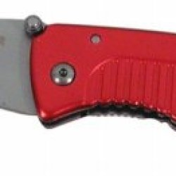 Valor Anodized Red Aluminum Rescue W/Belt Cutter Firefighter Logo #3267