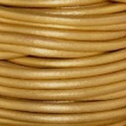 "#42 Metallic Gold Round Leather Cord 0.5Mm (1/64"") X 10 M (10.93 Yds)"