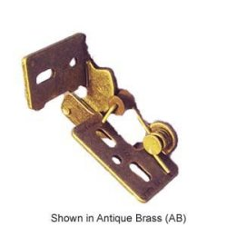 "Youngdale #4 3/8"" Inset Self Closing Knife Hinge For 3/4"" Minimum Thickness Door Antique Brass Finish"