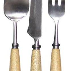 Teton Cfc550Eu Antique Fishing Lure 6-Piece Eating Utensil Set