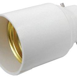 Kobwa(Tm) White B22 To E27 Lamp Light Bulb Base Socket Converter Adaptor With Kobwa'S Keyring