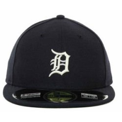 Detroit Tigers Mlb Authentic Baseball Cap 7-3/8 Osfa - Like New