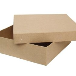 Paper Mache Square Chipboard Box 12 In. By Craft Pedlars