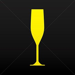 Sticker Decal Champagne Flute Decoration Waterproof Racing Vehicle Tab Yellow (14 X 3.73 In)