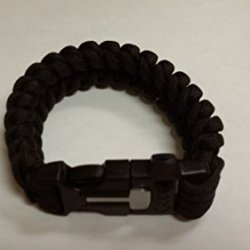 Nutravicity Tactical Paracords Emergency Survival Bracelet With Fire Starter, Whistle And Sharp Eye Knife Black