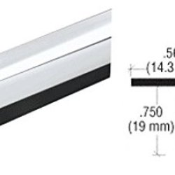 Crl Chrome Plastic Reflective Outside Corner - 98 In Long