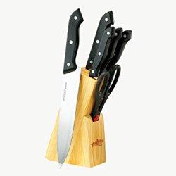 Peterhof 7Pc Knives Set In Wooden Block Abs Handles Sn-2211