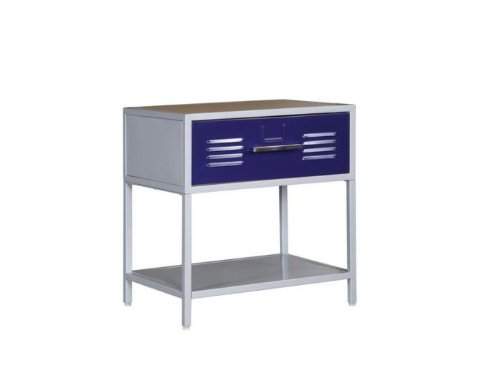 Image of Kids Nightstand in Silver Finish - Powell Teen Trends Collection (517-029)