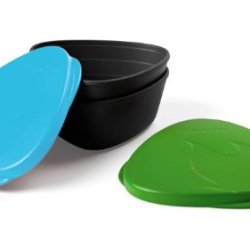 Light My Fire Bpa-Free Waterproof Snap Box For Food Storage - Set Of 2, Green/Cyan