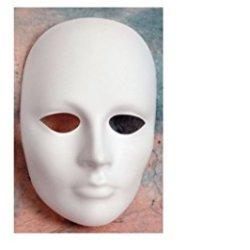 Chenille Kraft Plain Plastic Mask - Female