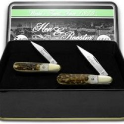 Hen & Rooster And Father Son Set Genuine Deer Stag 1/500 Barlow Pocket Knife Knives Set