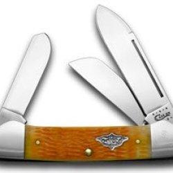 Case Xx Persimmon Orange Gunboat Canoe 1/100 Vintage Series Pocket Knife Knives