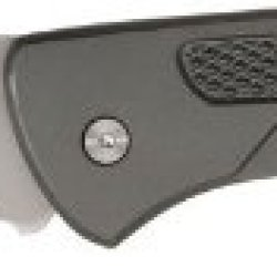 Schrade Scprim7 Team Primos Lockback Folding Knife With Drop Point Blade With Thumb Hole And Grey Aluminum Handle With Lanyard Hole