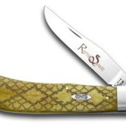 Case Xx Antique Bone Rattlesnake Backpocket 1/500 Pocket Knife Knives