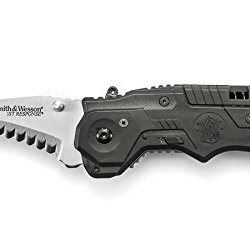 Smith & Wesson Sw911N First Respon Knife With Magic Assisted Opening Serrated Blade, Stainless Steel