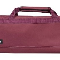 Messermeister 8-Pocket Padded Knife Roll, Burgundy