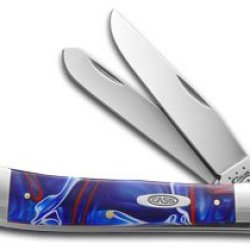 Case Xx Kirinite Patriot Synthetic Trapper Stainless Pocket Knife Knives