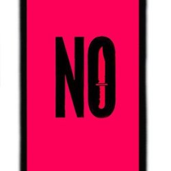 Iphone 5C Case And Cover - Quotes No Knife Tpu Rubber Silicone Case For Iphone 5C Black