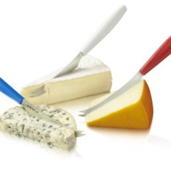 Boska Holland Dutch Collection 3 Piece Colors Cheese Knife Set, Red/White/Blue