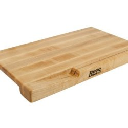 John Boos 20 By 12 By 1.75-Inch Maple Edge Grain Bread Board With Slotted Knife Holder