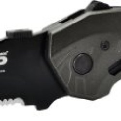 Smith & Wesson Swmp5Ls M&P Linerlock Knife With 2Nd Generation Magic Assisted Open And 40% Serrated Drop Point Blade