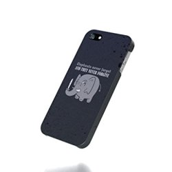 Apple Iphone 4 / 4S Case - The Best 3D Full Wrap Iphone Case - Humor Funny Typography Never Forget Knives Elephants