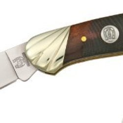 Rough Rider Knives 472 Canoe Pocket Knife With Brown Sawcut Bone Handles