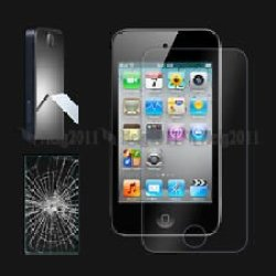 Etech Collection 1 Piece Of Premium Tempered Glass Screen Protector For Apple Ipod Touch 4Th Generation (0.3Mm) 9H Hardness With Oleophobic Coating - Free Shipping From Usa