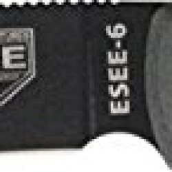 Esee Model 6 Fixed Blade Knife, 5.75In, Drop Point, Black Linen Micarta Handle Es-6P