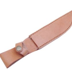 Nuoya001 Top Leather Straight Leather Belt Sheath Scabbard Case For Fixed Knife Blade