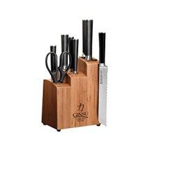 Japanese Steel 8-Piece Cutlery Set With Wood Block And Bonus Bread Knife