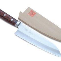 Yoshihiro 165Mm Gold Steel Chef Santoku Knife, 6.5-Inch