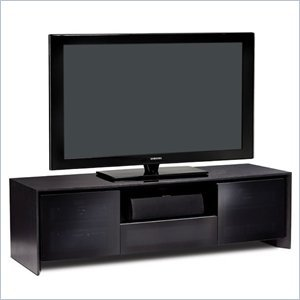 Image of BDI Casata Flat Panel or Rear Projection TV Stand in Black Stained Oak (8629-2BO)