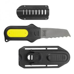 Uk Remora Titanium Blunt Tip Scuba Diving Dive Knife With Sheath (Yellow)