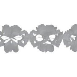 Creative Converting Tissue Garland Party Decor, 10' Long, Silver