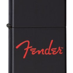 Zippo Pocket Lighter Fender Lighter, Matte Black