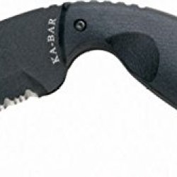 Ka-Bar Tdi Law Enforcement Knife, Tanto Large - Hard Sheath - Partial Serrated Edge