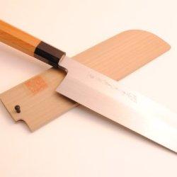 Yoshihiro Shiroko High Carbon Steel Honyaki Kama Gata Usuba Japanese Vegetable Chef Knife 8.25 Inch (210Mm) Yew Handle