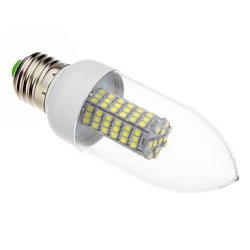 E27 7 W 118 X3528Smd Lm 5500-6500, 620-640 K Cold White Led Candle Bulb (220 V - 240 - V)