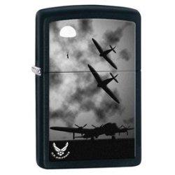 Zippo Pocket Lighter Air Force Windproof Lighter, Black Matte