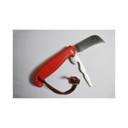 Sheffield Knives Handyman'S Action 2-Blade Knife Red W/Leather