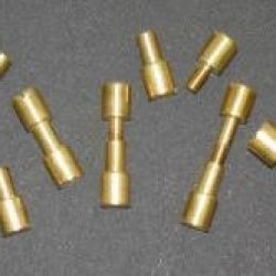 "Two Brass Corby Rivets Knifemaking 5/16"" X 1-1/8""Diameter Cp630"